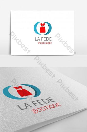 rojo azul color mixto la fede boutique logo Modelo AI
