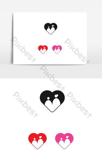 símbolo de la madre y el niño en el diseño del vector del amor Elementos graficos Modelo EPS