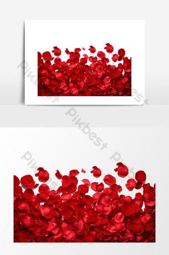 elemento gráfico de hermosas hojas de rosa roja Elementos graficos Modelo PSD