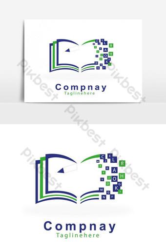 libro, educación, escuela, logotipo, vector, imagen Elementos graficos Modelo EPS
