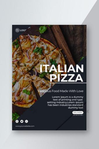 Flyer ALIMENTAIRE pour le restaurant et la livraison en ligne de nourriture en mode CMJN prêt à imprimer Modèle EPS