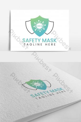 diseño de logotipo de máscara de seguridad corona Modelo AI