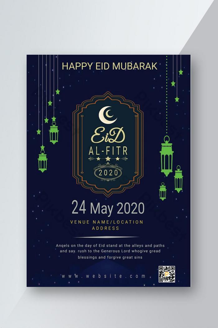 happy eid-ul fitr flyer design