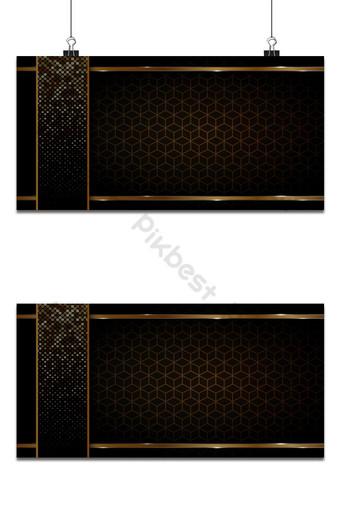 fondo negro y dorado formas geométricas abstractas diseño de lujo papel tapiz realista Fondos Modelo AI