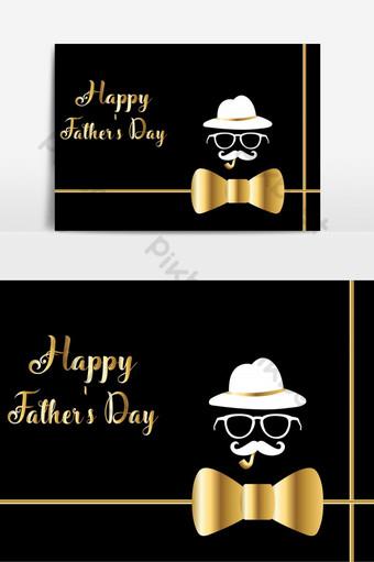 Bonne fête des pères carte de voeux Vector illustration bannière ou fond d'affiche Éléments graphiques Modèle AI