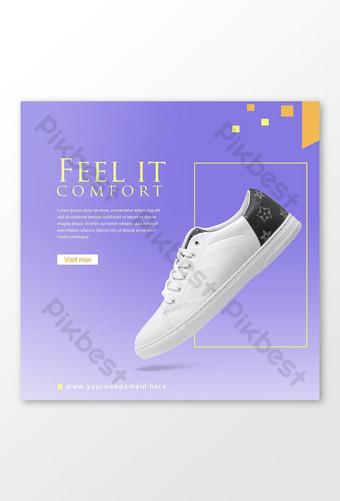 pos media sosial atau desain templat spanduk alas kaki e commerce E-commerce Templat PSD