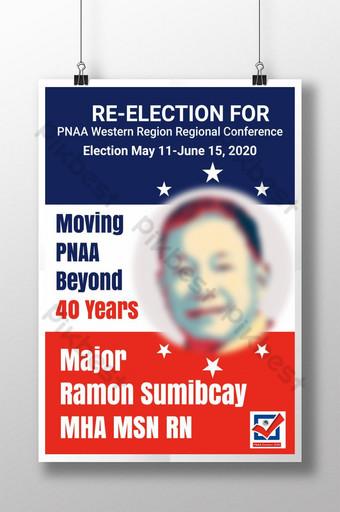 Meilleur signe de flyer affiche politique pour les États-Unis candidat modifiable signe de cour flyer politique Modèle AI