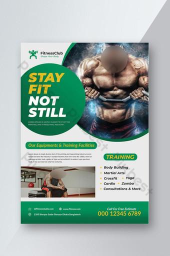 Modèle de Flyer de fitness gym Modèle PSD