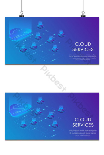 Isometric vector design of concept cloud services technology. Backgrounds Template EPS
