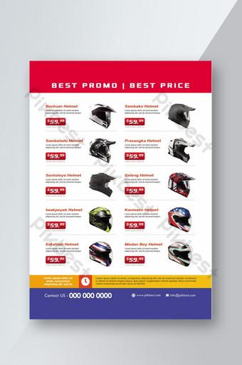 katalog produk helm untuk penjualan promosi Templat PSD