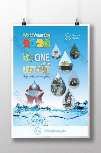 World Water Day Poster Template EPS