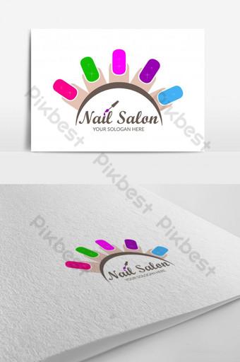 Thiết kế logo tiệm nail và nghệ thuật làmóng Bản mẫu AI