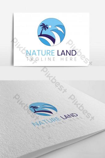 diseño de logotipo de tierra de naturaleza colorida simple Modelo AI