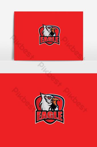 cabeza águila esport logo Elementos graficos Modelo EPS