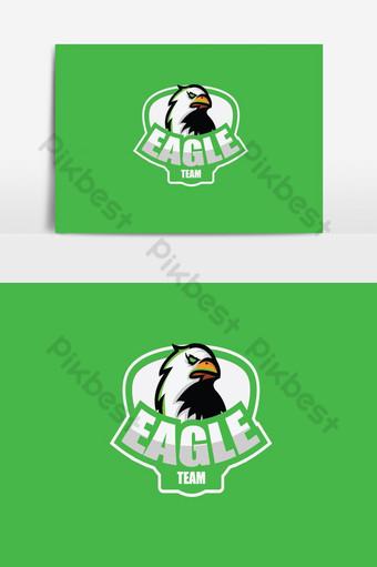 cabeza águila esport logo Elementos graficos Modelo PSD