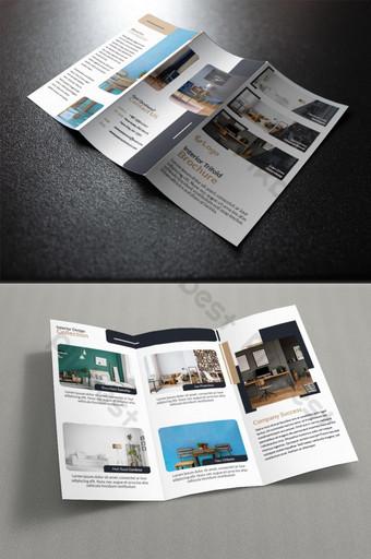 plantilla de diseño de folleto tríptico de bienes raíces Modelo AI