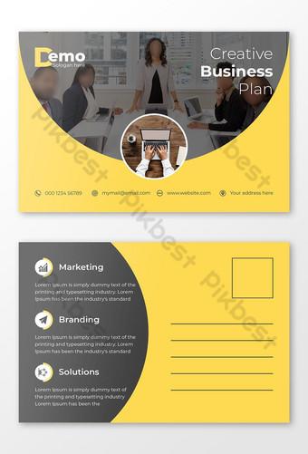 Modèle de vecteur de conception de carte postale professionnelle d'entreprise Modèle AI
