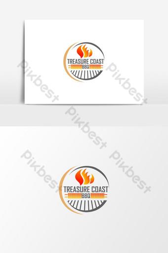logo de fuego de barbacoa americana inspiración de diseño de logo de vector libre Elementos graficos Modelo AI