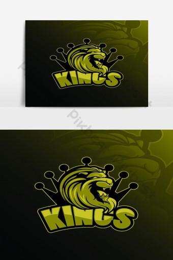plantillas de diseño de logotipo de rey león Elementos graficos Modelo EPS