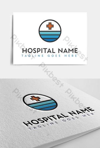 logotipo abstracto del hospital del lago oceánico Modelo AI
