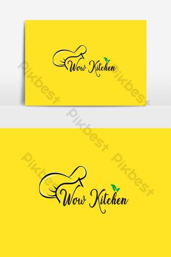 diseño de logo para tienda de comida y restaurante. Elementos graficos Modelo AI