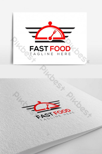restaurante de comida rápida vector logo design Modelo AI
