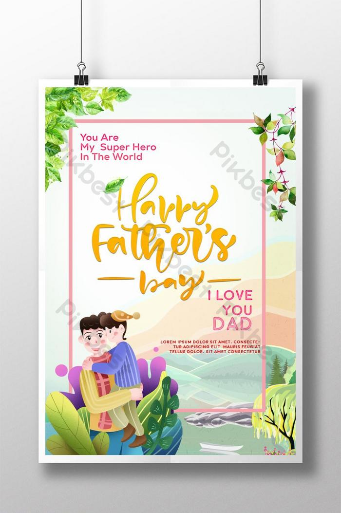 mẫu poster ngày của cha