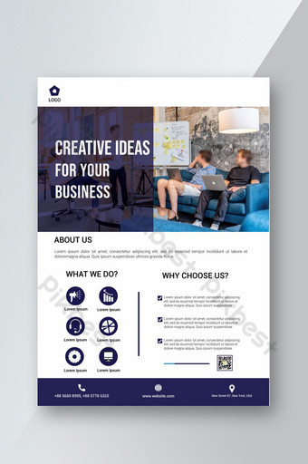 Flyer créatif flyer idée créative Flyer entreprise Modèle PSD
