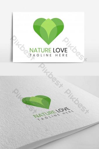 diseño de logotipo de vector de amor de naturaleza simple Modelo AI