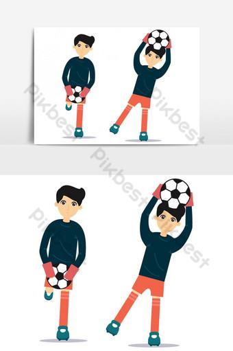 Football gardien de but joueur action enregistrer un but Éléments graphiques Modèle AI