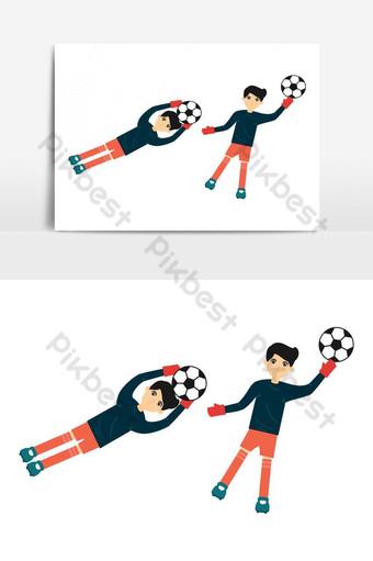 Gardien de but de football de football enregistrant un objectif Design de personnage Éléments graphiques Modèle AI
