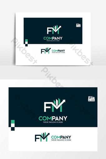 logotipo de inversión de gestión de capital financiero fm Elementos graficos Modelo EPS