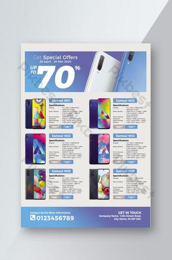 brosur katalog smartphone untuk promosi bisnis Anda Templat PSD