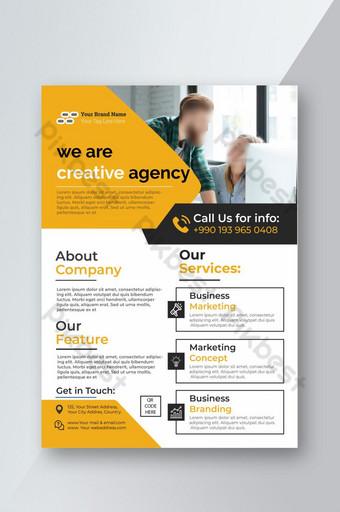 Modèle de Flyer de entreprise jaune moderne Modèle AI