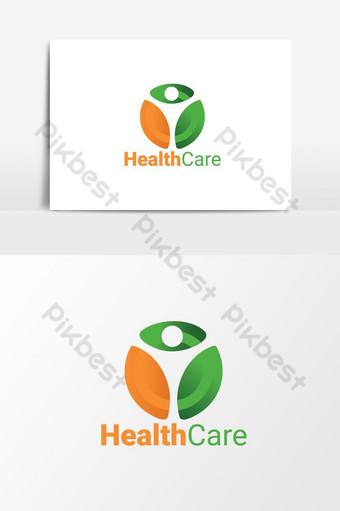 archivo de vector de logotipo médico de salud Elementos graficos Modelo AI