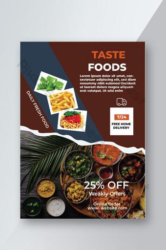 Modèle de conception de flyer de menu de restaurant d'entreprise moderne professionnel Modèle AI