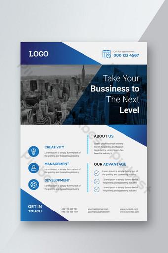 Modèle de conception d'entreprise intelligente moderne Cette conception pour la présentation de l'affiche du magazine Flyer Modèle AI