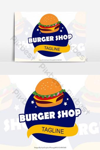 llamativa plantilla de logotipo de tienda de hamburguesas Elementos graficos Modelo EPS
