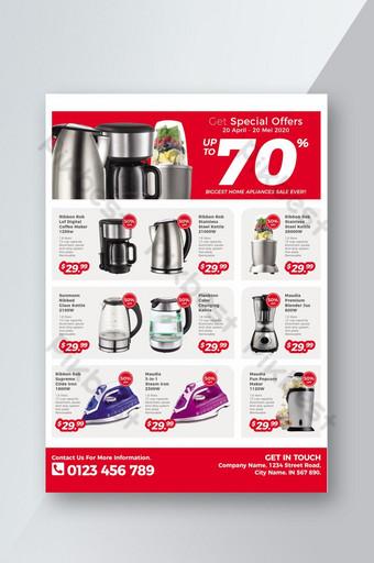 Promosi templat brosur produk peralatan rumah tangga Templat PSD