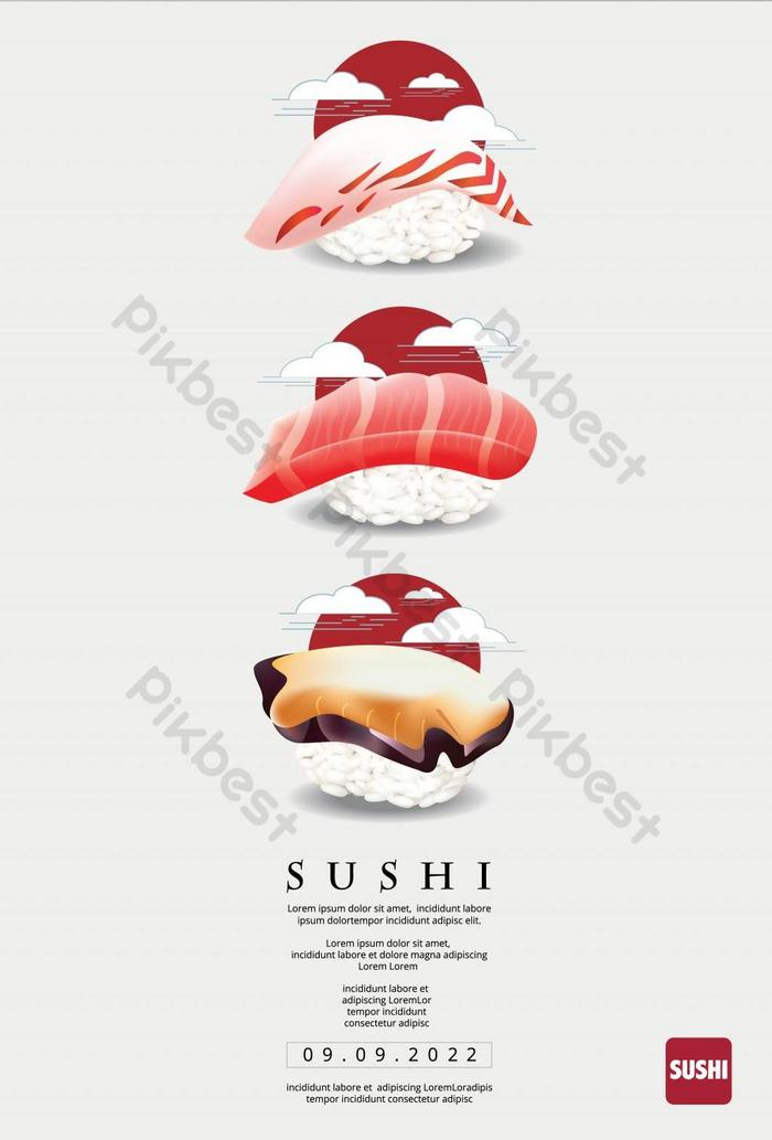 Poster Of Sushi Restaurant Vector Illustration Ai Free Download Pikbest