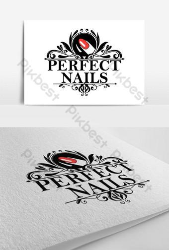 Logo Nail đẹp hiện đại Bản mẫu EPS