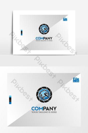 cámara cctv logo de la cámara de seguridad del ojo del águila Elementos graficos Modelo EPS