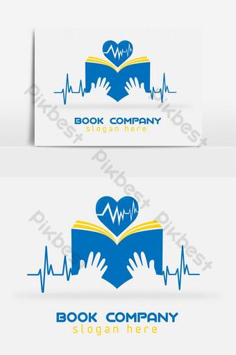 globo mundo salud y felicidad escuela educación logo niños libros escolares icono de niños registro Elementos graficos Modelo EPS