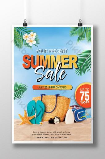 plantilla de venta de verano tropical psd Modelo PSD