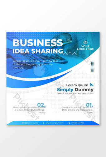 Business Promotional Services Social Media Marketing Template EPS