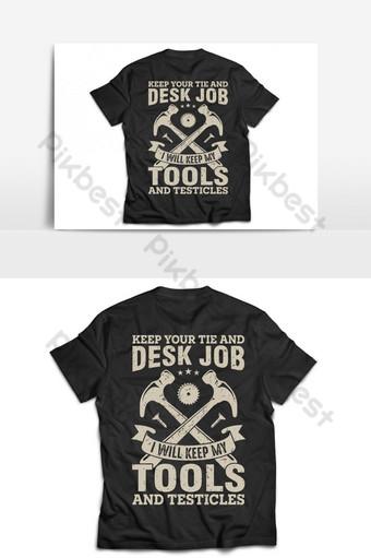 Modèle de conception de vecteur t-shirt et affiche de menuiserie drôle avec citation Éléments graphiques Modèle AI