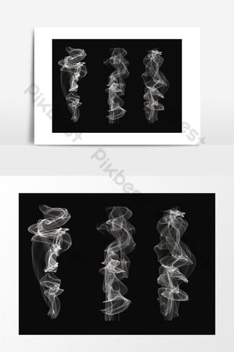 conjunto de efectos de humo realistas Elementos graficos Modelo PSD