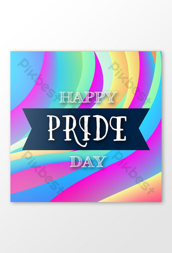 Happy Pride Day Social Media Post Design Template EPS