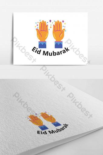 شعار صلاة عيد الفطر للأعمال قالب PSD