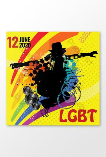 Hello LGBT Month Celebration Posts Template PSD